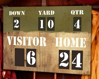 Football Party Scoreboard - Printable Decorations - INSTANT DOWNLOAD