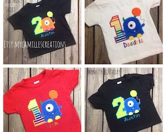 Monster Birthday Shirt Personalized