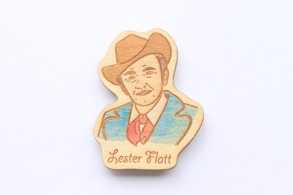 Wooden Lester Flatt Magnet