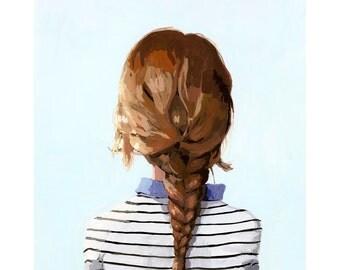 """8x10"""" hair art - braid print - """"Braid 8"""" giclee print"""