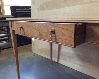 Custom Made Desk, Solid cherry, Classy minimalism