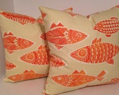 Decorative Pillow Cover and/or Valance in Tommy Bahama's Fishful Thinking Coral Reef
