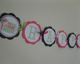Sleepover Happy Birthday Banner