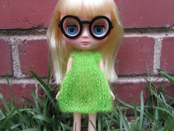 Knitting Pattern Mohair Dress for Middie Blythe