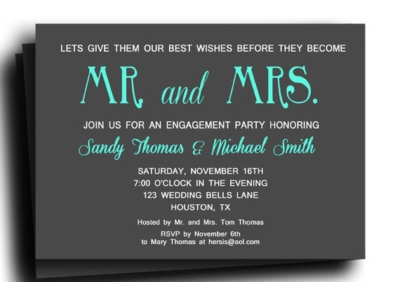 Mr And Mrs Wedding Invitation Wording: Mr And Mrs Invitation Printable Or Printed With FREE