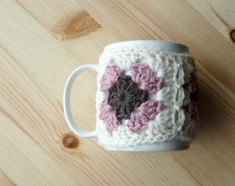 Mug Cosy PDF Crochet Pattern Granny Squares Instant Download Quick & Easy Crochet