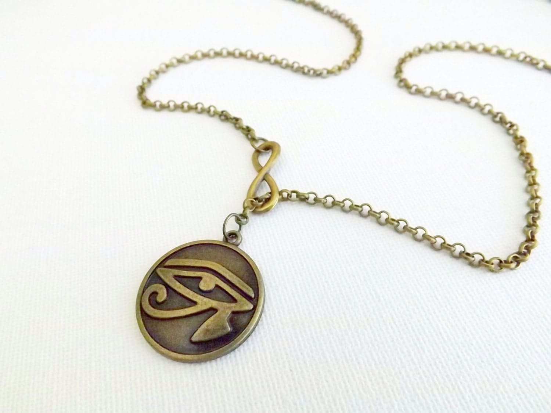 eye of horus necklace infinity necklace eye of horus