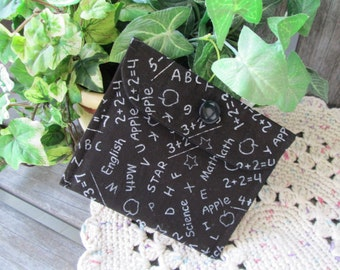 ON SALE - CLOSEOUT Cosmetic Bag Coin Purse Gadget Bag Black and White Chalkboard Teacher's Gift