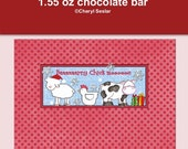 Baaarry Chick Moos 1.55 oz Candy bar wrapper Christmas
