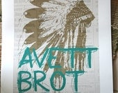 The Avett Brothers Poster - 2013 Tour