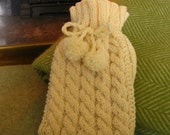 Black Friday Sale - Hot Water Bottle Cover Knitting Kit