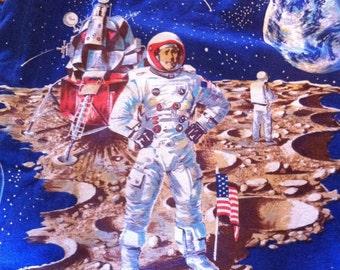 Vintage astronaut space curtains