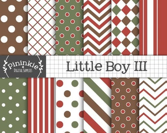 Boy Christmas Digital Paper, Baby Boy Scrapbook Paper, Instant Download, Scrapbook Paper Digital, Photo Background, Commercial Use