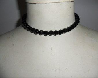 Authentic vintage Black Glass Necklace