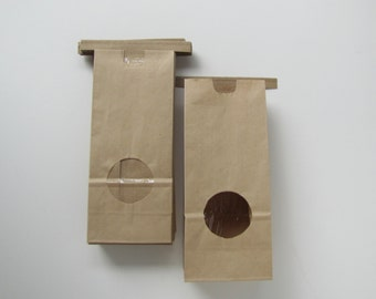 25 or more Coffee bags for cookies, cookie bags, candy, wedding favours, s'mores kits diy tin tie bags