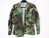 Vintage Army Camouflage Jacket with Original Patches