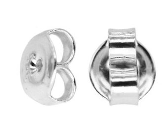 Sterling Silver  Ear Nuts 5 PAIRS