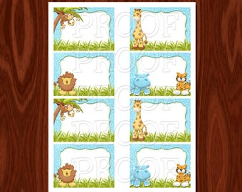 Jungle Themed Food Buffet Labels Printable File