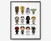Cute Star Wars art print, Nursery Art, Children Room Decor