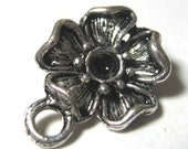 Flower Connector Setting Antique Silver 16mm x 12mm 12 pieces