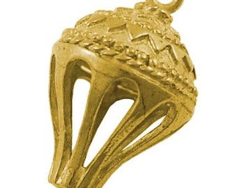 Brass Pendant Link Hot Air Ballon 19mm 2 holes Price per piece