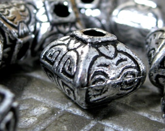 Lantern Beads CCB Acrylic Lightweight 12mm SIlver color 20 pieces