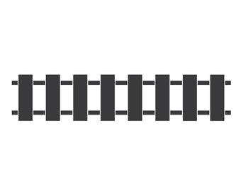 Train Track Stencil for Walls and Furniture (456-istencil)