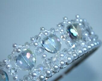 Crystal Heart and Pearl Princess Tiara, Flower Girl Tiara