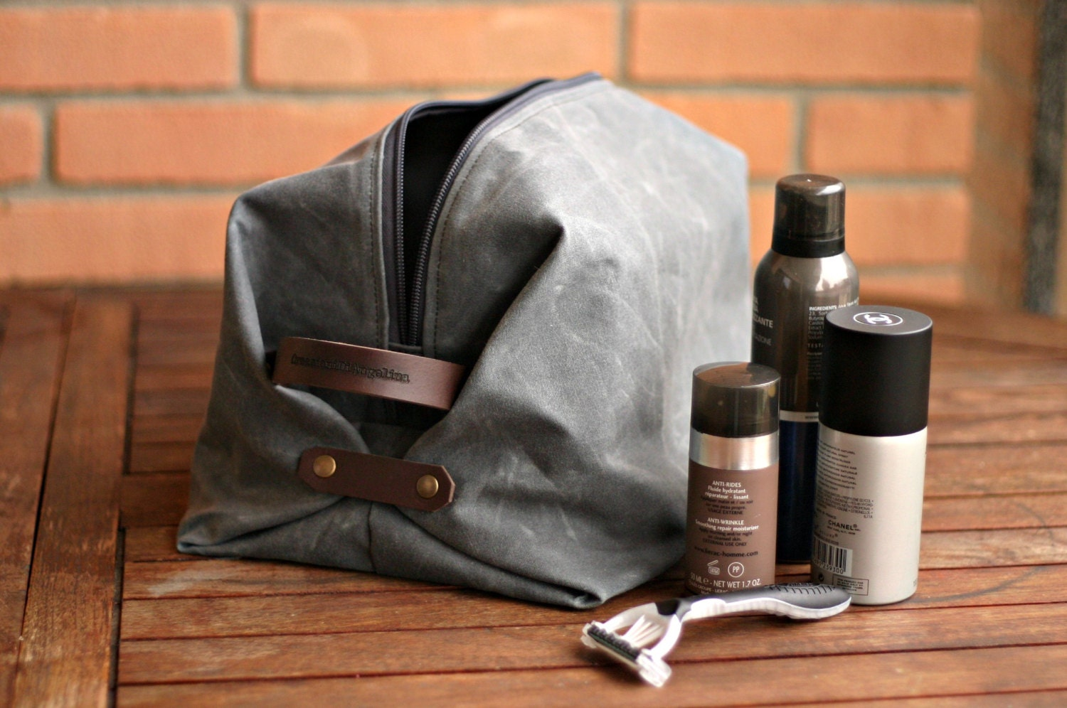 mens toiletry bag   waxed canvas  zoom. Waxed canvas dopp kit waxed canvas toiletry bag mens