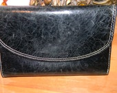 KENNETH Cole  Black Distressed leather Wallet.9 card slots plus.logo embossed silk Logo KC lining.UNISEX style