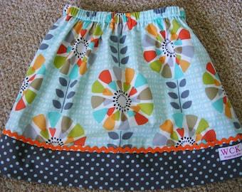 Michael Miller Petal Pinwheels skirt ( 2T, 3T, 4T, 5, 6, 7, 8, 10)