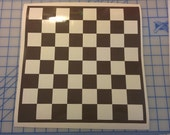 Chess game / Checker game / board game / vinyl decal / game night / family night / strategy game /  king queen / table game / do it yourself