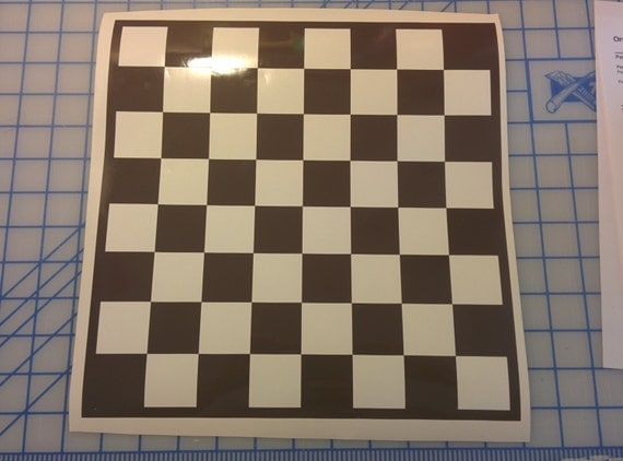 Chess game checker game board game vinyl decal game like this item solutioingenieria Gallery
