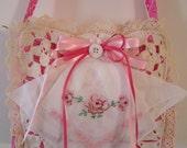 SALE! Pink Shabby Sack