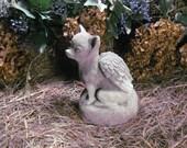 Concrete Chihuahua Dog Angel Statue