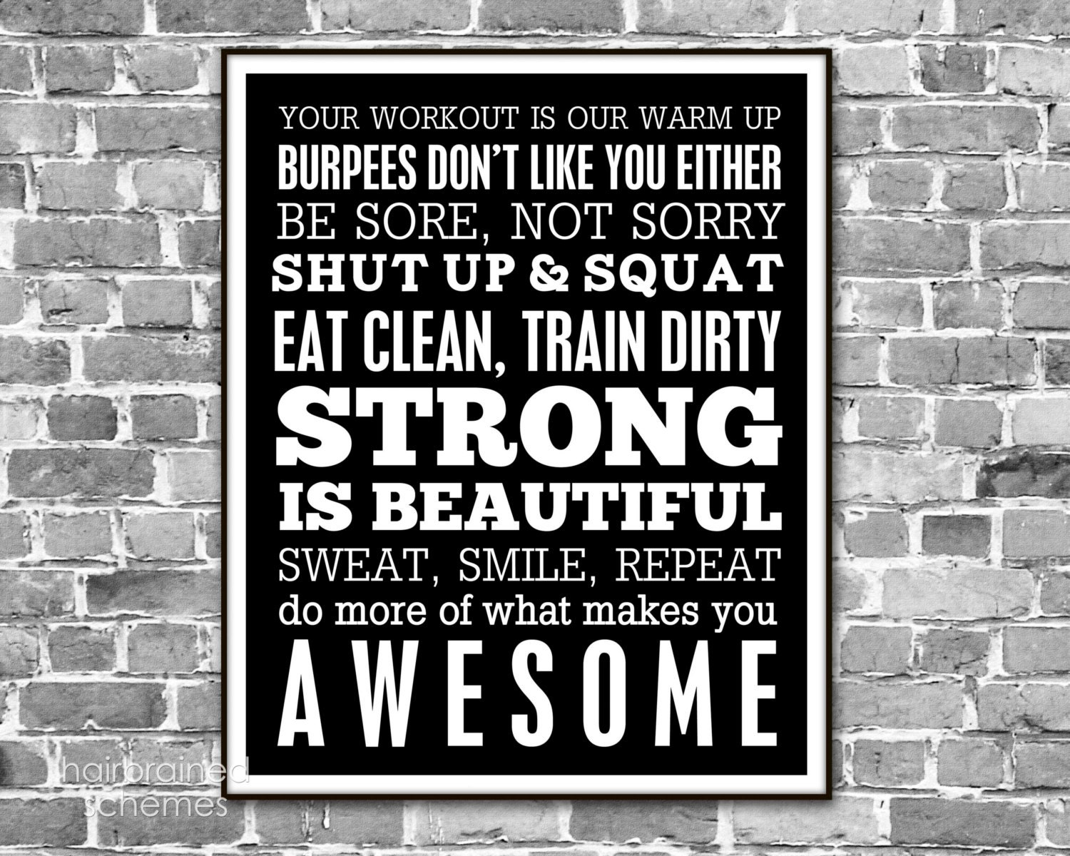 Fitness Motivation Men Fitness subway art poster