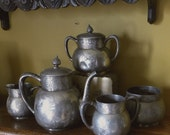 Antique Silverplate Tea Set  5 Piece (Pairpoint Mfg. Co., New Bedford, Mass) - BoudreauCollection