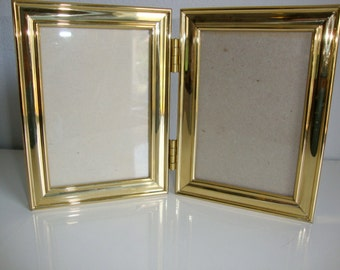 Brass Picture Frames Double pictures Bifold