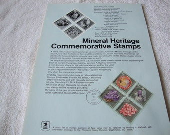 United States Commerative Stamps, Lot of 15 First Day Issue Stamps, 15 Pages of 1974 Souvenir Pages, United States Stamps