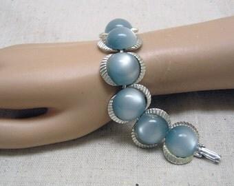 Powder Blue Vintage Moonglow Bubble Bracelet