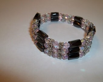 15 Inch Magnetic wrap with Rose AB crystals