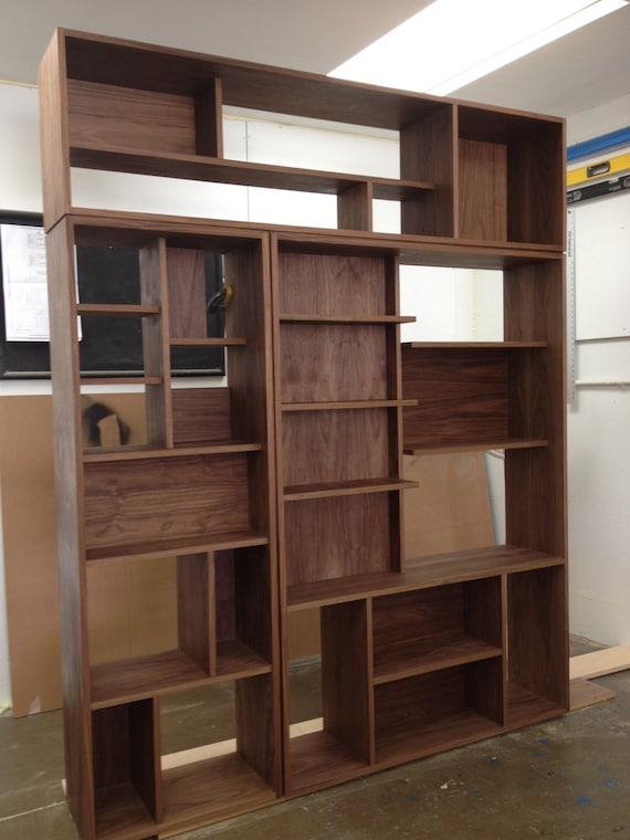 mid century modern bookcase shelving unit. Black Bedroom Furniture Sets. Home Design Ideas