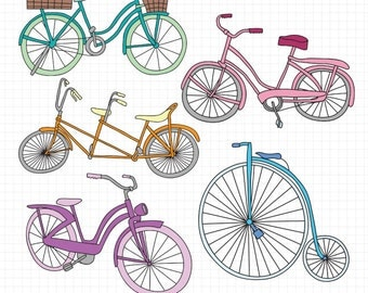Bike Clip Art Bicycle Clipart Bike Illustration Instant Digital Downloadable Images