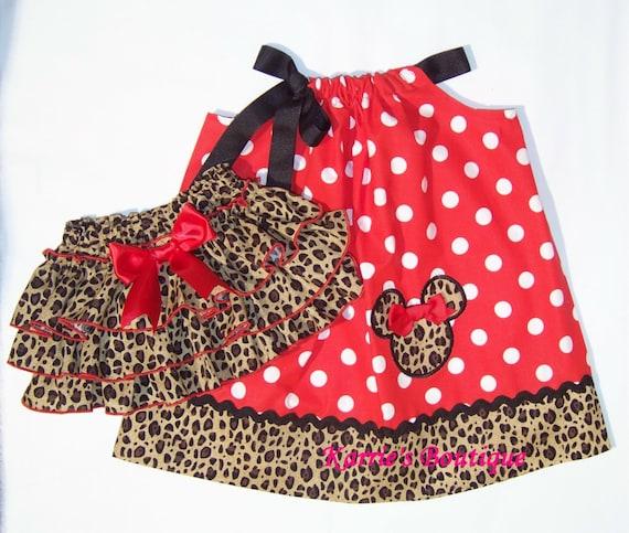 2 pcs minnie mouse set taie d 39 oreiller robe par karriesboutique - Taie d oreiller minnie ...