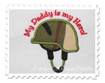 Military Helmet Applique - Daddy