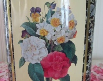 English Roses Tin Canister, Vintage Tin, Made in England, Storage Tin