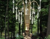 Vintage Cherub Waterfall Boudoir Lamp