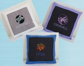 Personalized Warcraft Emblem Cross Stitched Pillow