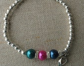 048 Thyroid Cancer Awareness Bracelet