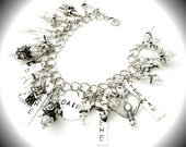 Kate Daniels Themed Charm Bracelet  ~ Myth & Magic ~ Urban Fantasy ~ Vampire ~ ShapeShifter ~ Witch ~ Themed Bracelet ~ Author Swag - Fandom
